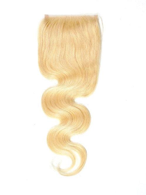 Russian Blond #613 Closure  4X4