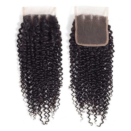 Curly Virgin Lace closure 4x4