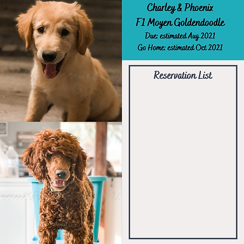 Charley & Phoenix Reservation List Aug 2