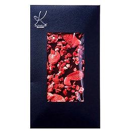 Mörk choklad med torkade jordgubbar