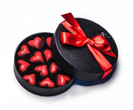 Karmello choklad röda hjärtan