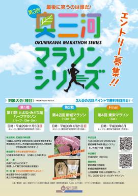 奥三河マラソンシリーズ A4チラシ