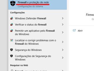 Configurações de Firewall para permitir conexão em rede SOLIDWORKS