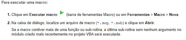 Executar macro SOLIDWORKS