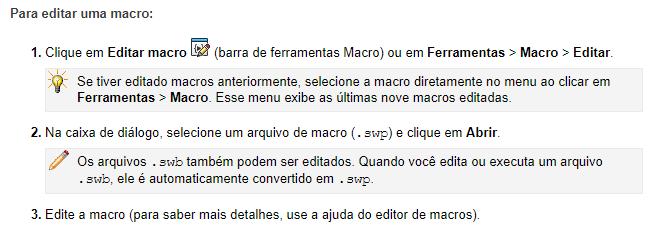 Editar macro SOLIDWORKS