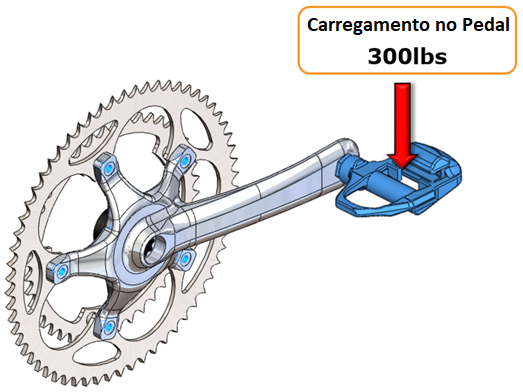Pedal bicicleta SOLIDWORKS