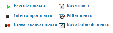 Barra de ferramentas macro SOLIDWORKS