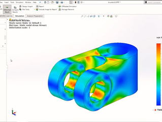 Resultado das análises do SOLIDWORKS Simulation