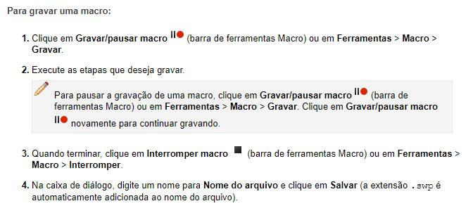 Gravar macro SOLIDWORKS