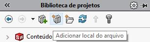 Biblioteca de projetos SOLIDWORKS | Painel de Tarefas