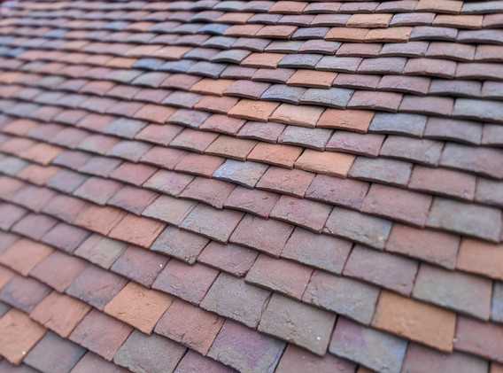 Close up of clay tiles