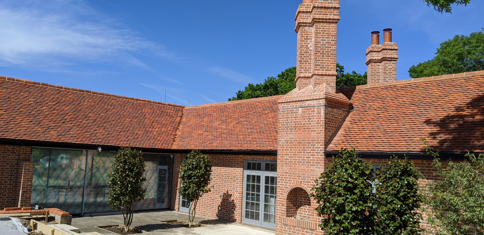 Clay Tile Roofing Wide Shot