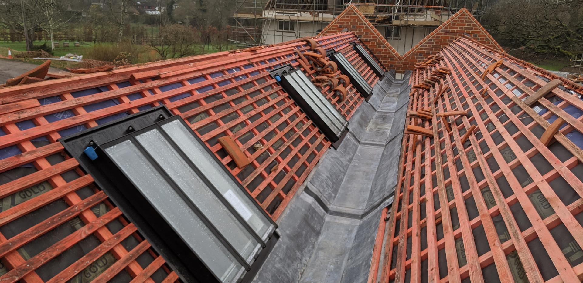 Roof battening and skylight