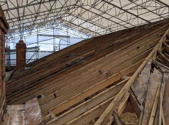Exposed original roof