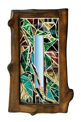 Golden Woods Mosaic Mirror