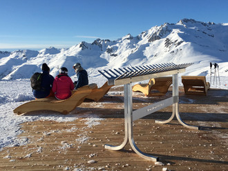Bain de soleil & Rack à skis | Labell'aire Saint François Longchamp, France | 2018