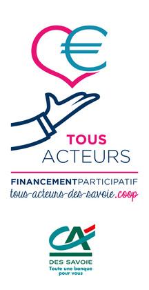 Logo «Tous Acteurs» et créa graphique | CA Des Savoie, Chambéry | 2018