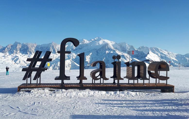Lettrage géant | Flaine - Grand Massif | 2018