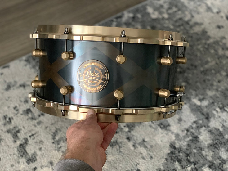 The'Queen's Guard' Snare; 6.5/8x14, 4.5mm Raw Brass
