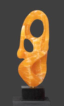 Illuminaire Contemporary sculpture in Utah honeycomb calcite
