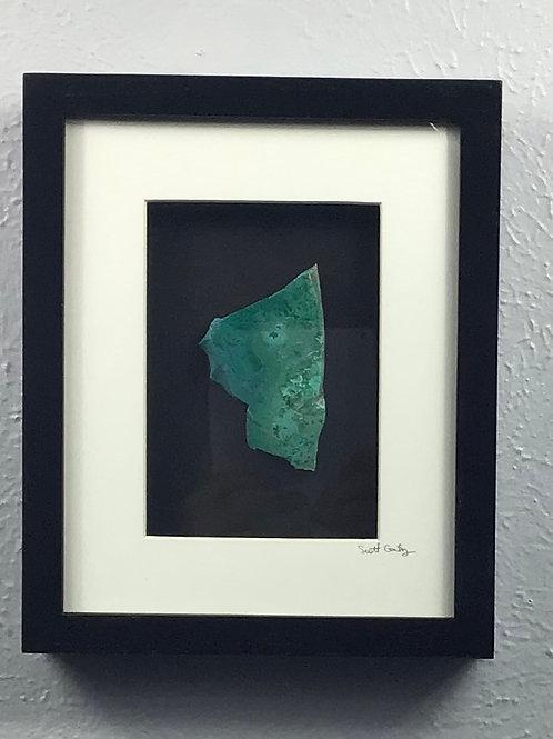 8x10in Framed Chrysocolla Artwork
