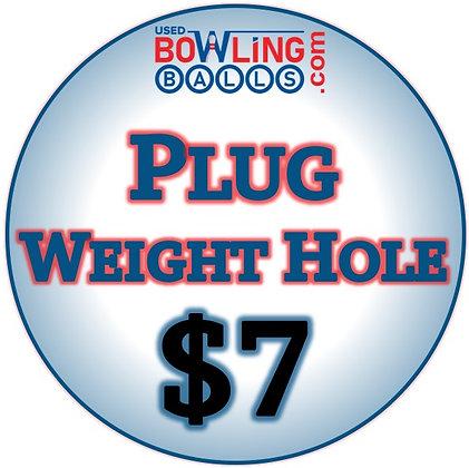 Plug Weight Hole