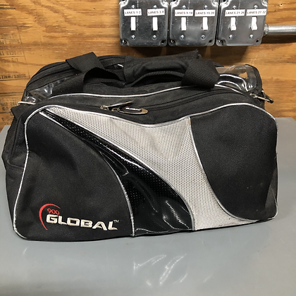900 Global Double Tote Black/Silver