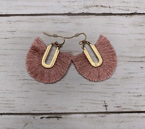 Horse Shoe Tassel Earrings