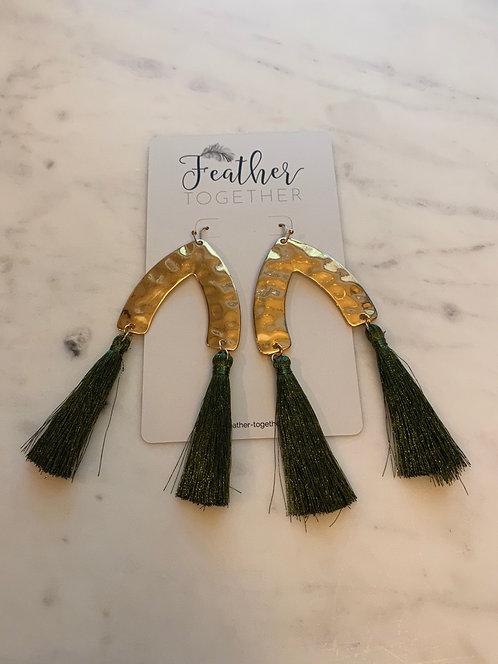 Tassel Wishbone Earrings