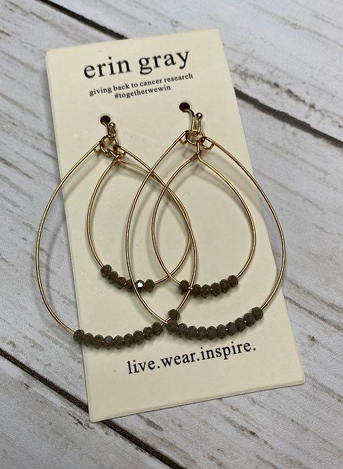 Double Oval Beaded Earrings