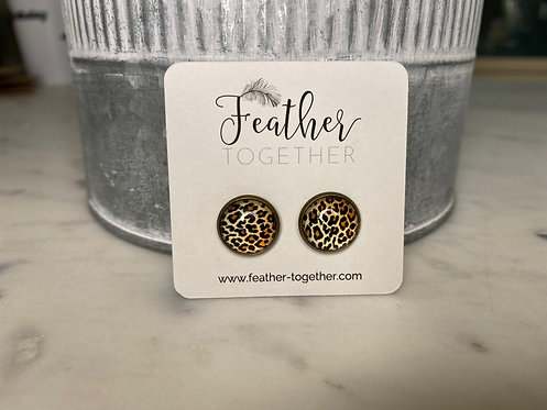Acrylic Dome Stud Earrings