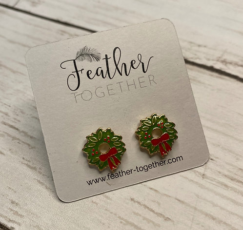 Christmas Greenery Earrings