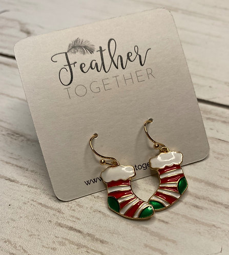 Dangling Christmas Earrings