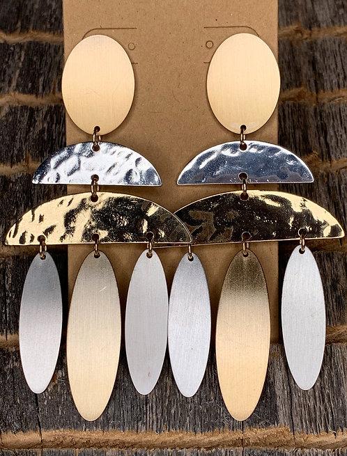 Metal Chandelier Earrings