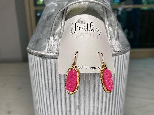 Small Druzy Dangle Earrings