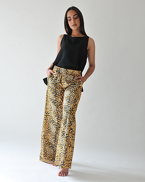 The Skirt Pants - Black and Gold