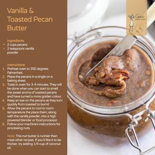 Vanilla & Toasted Pecan Butter