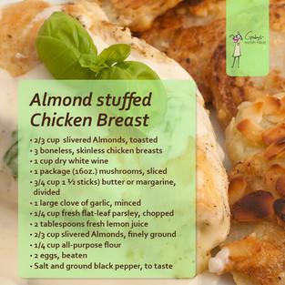 Almond Stuffed Chicken Breast