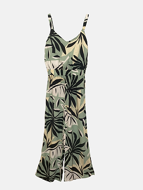 The Summer Jumpsuit - Green Geo Print