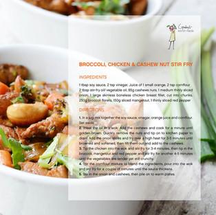 Broccoli Chicken & Cashew Stir Fry