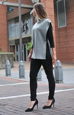 The Karen Waistcoat - Grey Cashmere Blend Knit