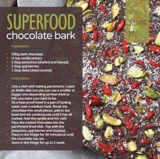 Superfood Chocolate Bark Recipe
