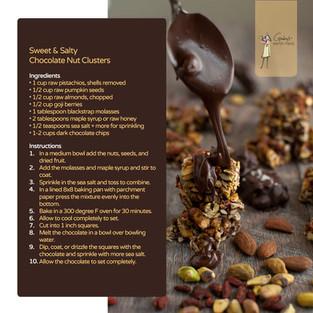 Sweet & Salty Chocolate Nut Cluster