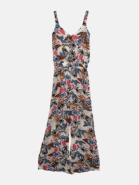 The Summer Jumpsuit - Blue Floral Print