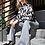 Thumbnail: Frill Neck Blouse - Black and White Floral