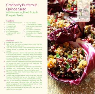 Cranberry Butternut Quinoa Salad