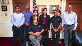 Image of SCRS staff members, in a photo with  congresswoman Judy Chu