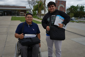 college instructor with stem student posing for this photo