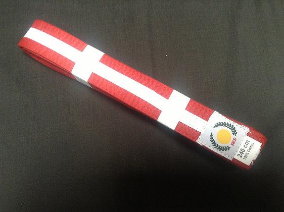 Belt: Red/White Stripe