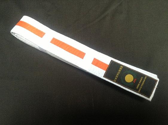 Belt: White/Orange Stripe